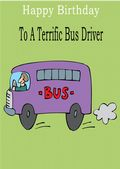 Bus Driver - Greeting Card